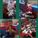Book week ends : Book mark making competition was held