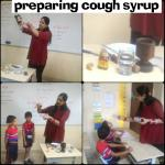 Preparing cough syrup